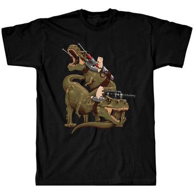 Cats Riding T-Rexs T-Shirt