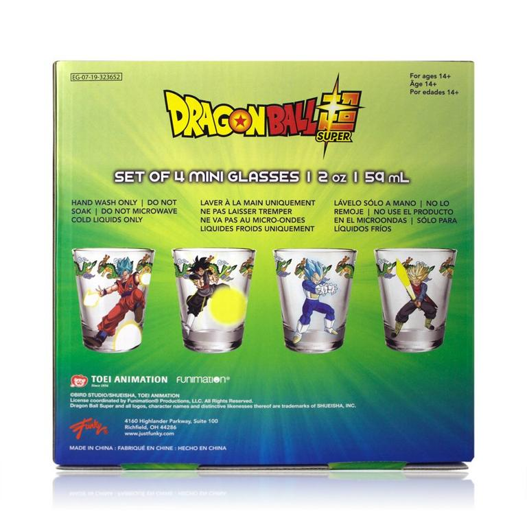 Dragon Ball Z Collector Glasses 4 Pack