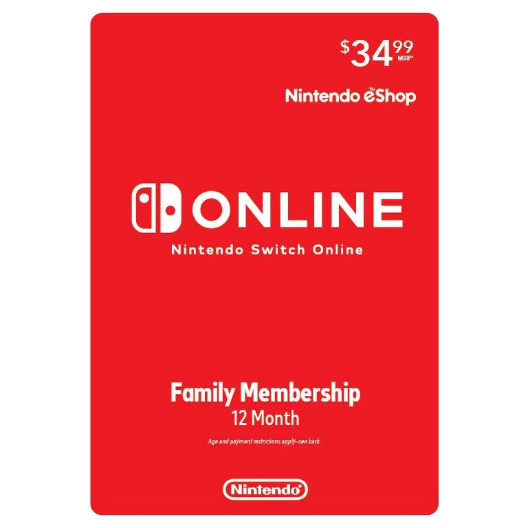 Nintendo Switch Online 12 Month Family Membership