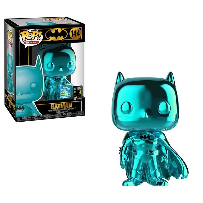 POP! Heroes: Batman Teal Chrome Summer Convention 2019 Only at GameStop