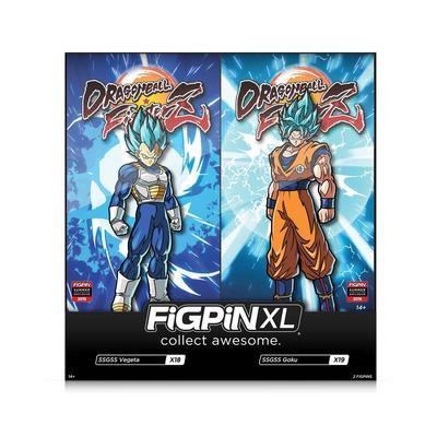 Dragon Ball FighterZ SSGSS Vegeta and Goku FiGPiN XL 2 Pack Summer Convention 2019 Only at GameStop