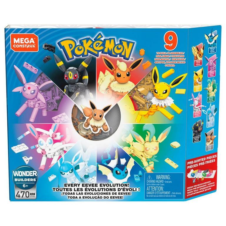 Pokemon Every Eevee Evolution Mega Construx