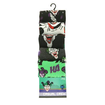Batman Joker Crew Socks 5 Pack