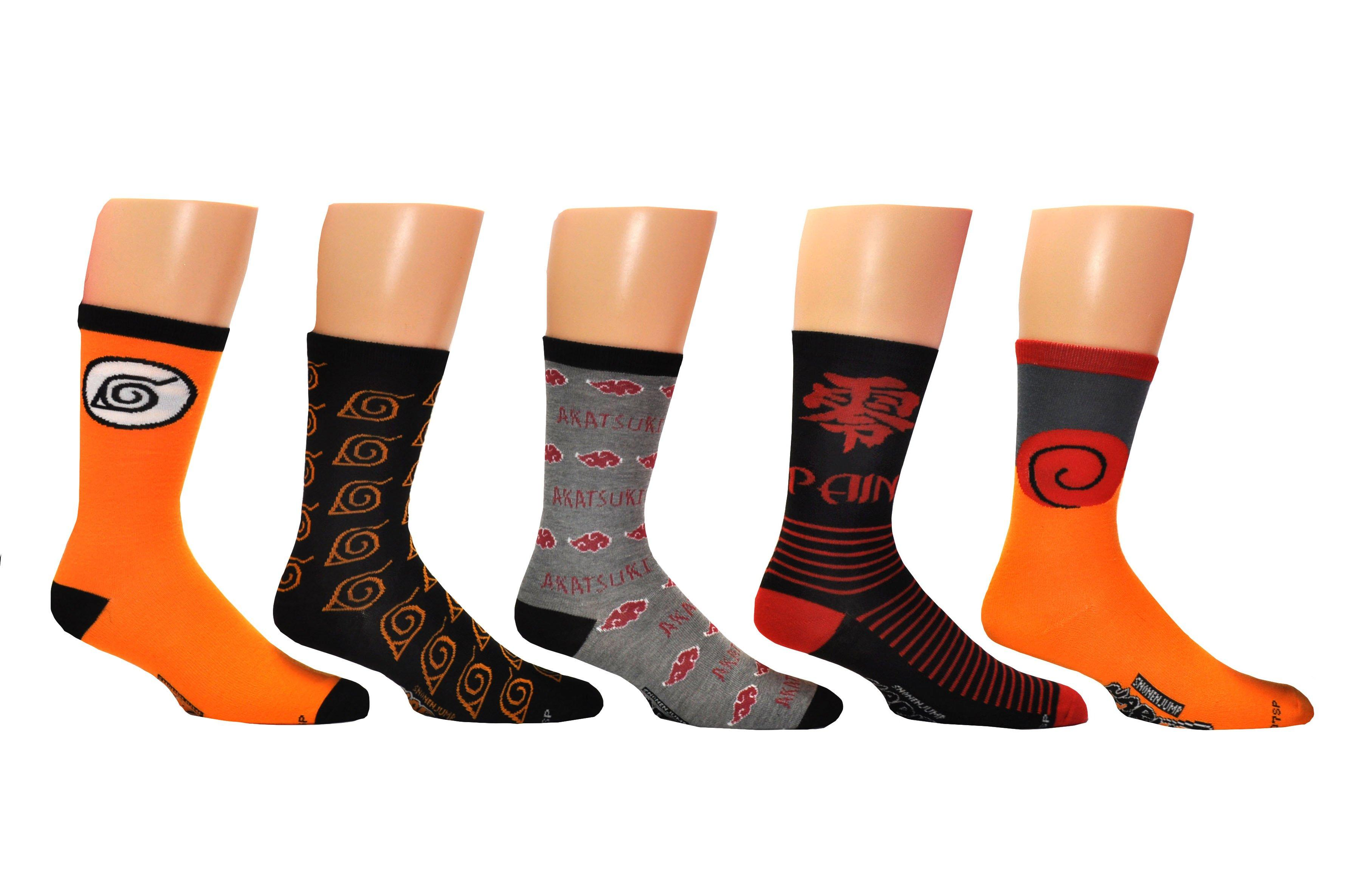 Naruto Shippuden Unisex Low Cut Socks 5-Pack Assortment NR-0043
