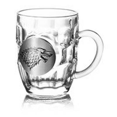 Game of Thrones House Stark Crystal Stein
