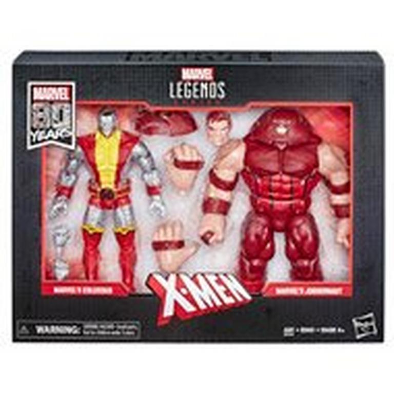 Marvel Legends Series Marvel 80th Anniversary X-Men Colossus VS. Juggernaut Action Figure 2 Pack