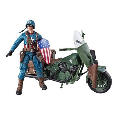 Marvel Legends: Captain America with Motorcycle Figure Set