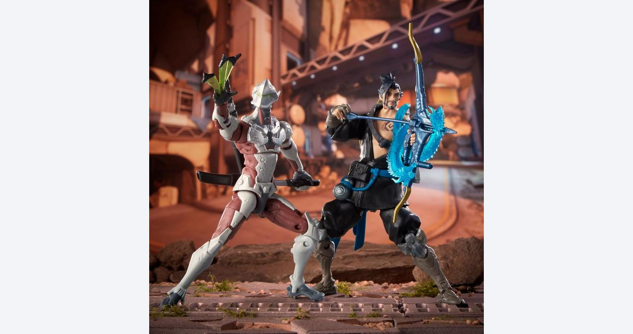 Overwatch fibre de carbone Genji Ultimates loose figure Hasbro GameStop