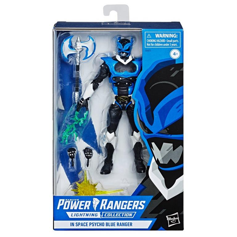 Power Rangers In Space Psycho Blue Ranger Lightning Collection Action Figure Only at GameStop