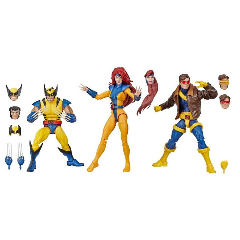 Marvel Legends Series X-Men Wolverine, Jean Grey, and Cyclops Action Figure 3 Pack