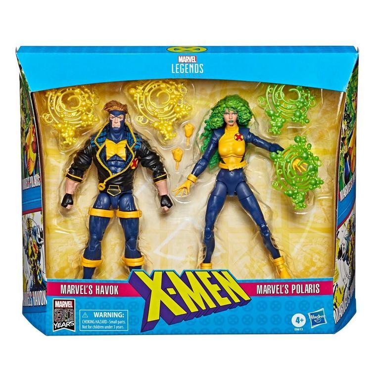 Marvel Legends Series X-Men Havok and Polaris Action Figure 2 Pack