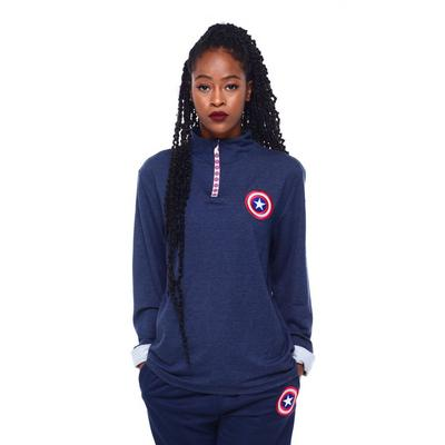 Captain America Quarter Zip Pullover