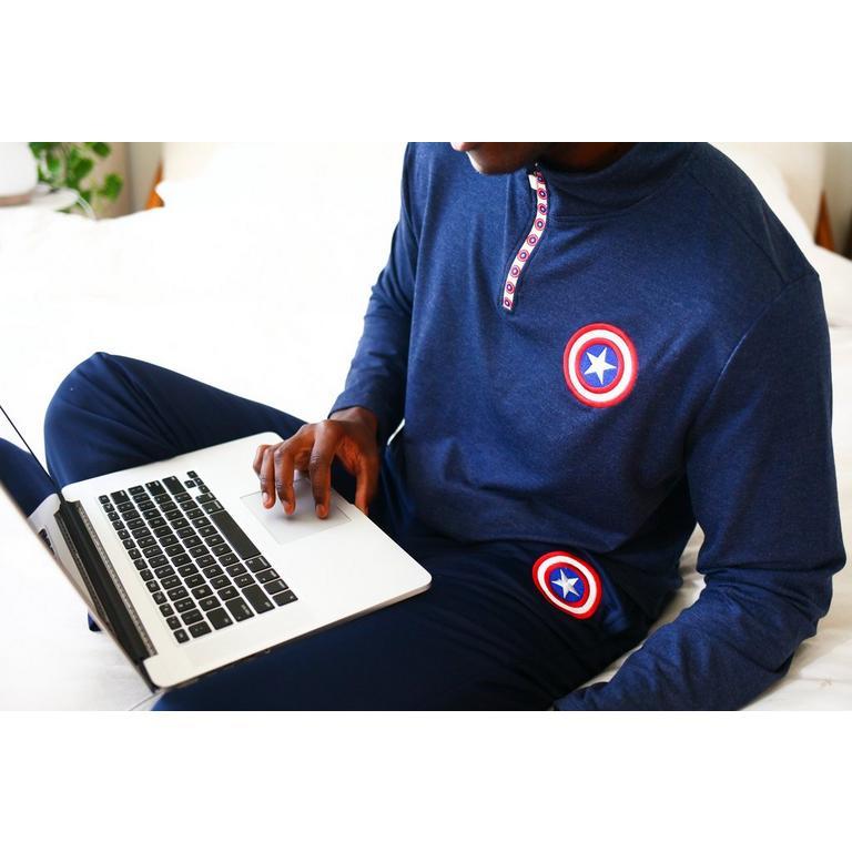 Captain America Quarter Zip Pullover
