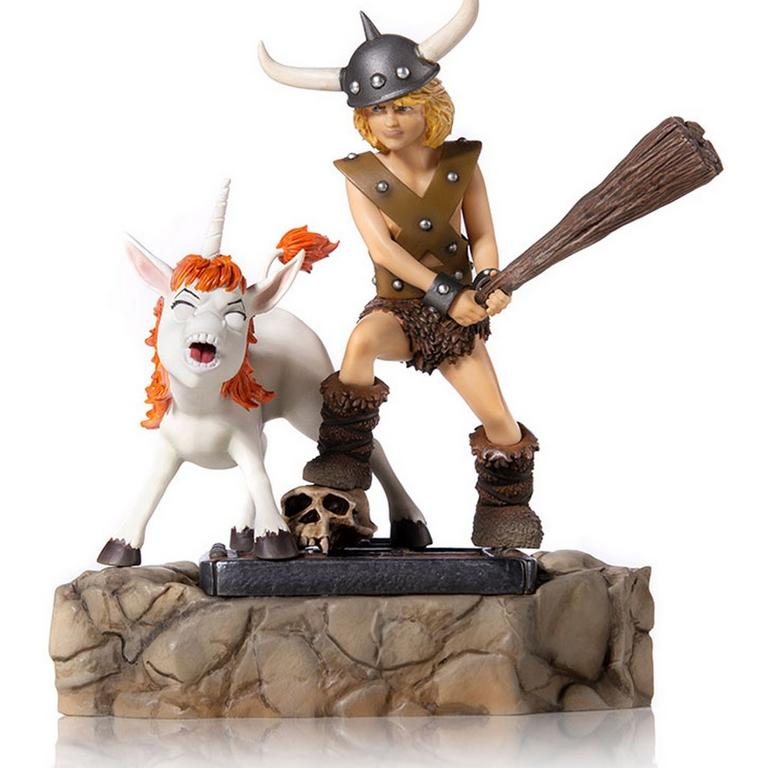 Dungeons and Dragons Bobby the Barbarian and Uni Battle Diorama Series Statue