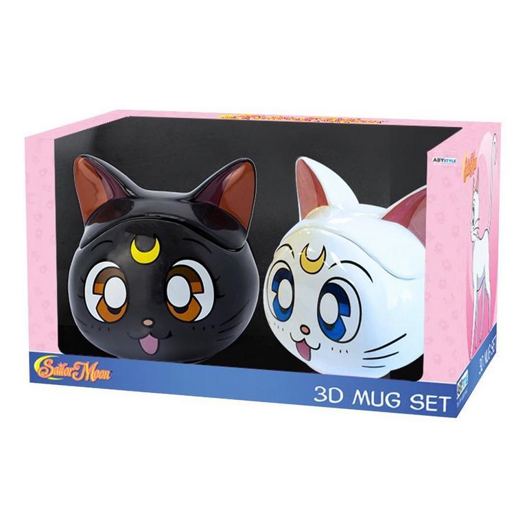 UPC 819065024445 product image for Abysse America Inc Sailor Moon Luna and Artemis Mug Set Available At GameStop No | upcitemdb.com