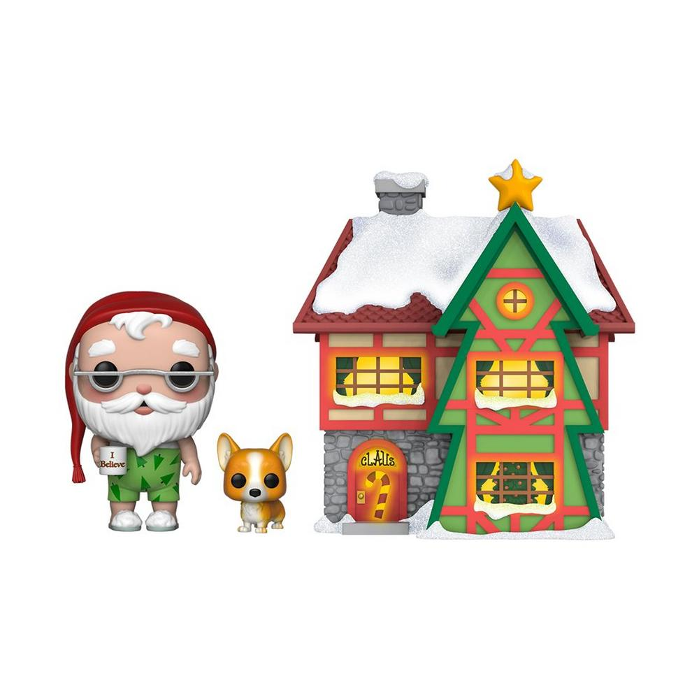 POP! Town Christmas: Peppermint Lane Santa Claus and Nutmeg with House