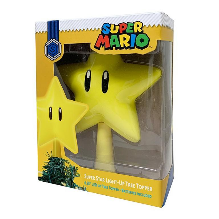 Super Mario Bros. Super Star Light Up Tree Topper
