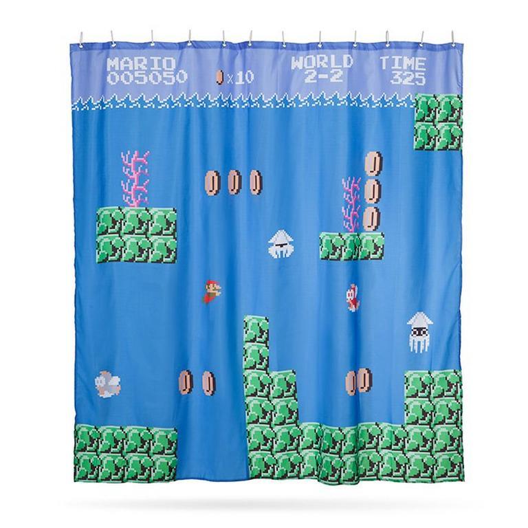 Super Mario Bros Shower Curtain Gamestop
