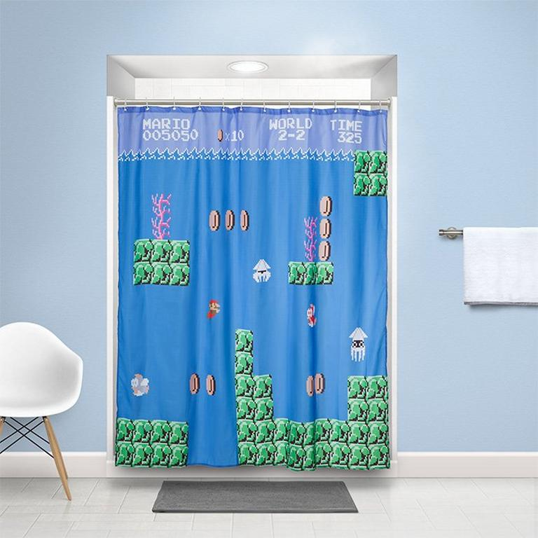 Super Mario Shower Curtain