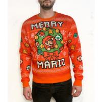 Deals on Super Mario Bros. Merry Mario Holiday Sweater