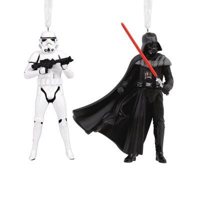 Star Wars Darth Vader and Stormtrooper Ornament Set
