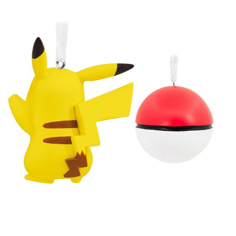 Pokemon Pikachu and Poke Ball Ornament Set