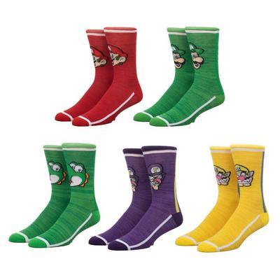 Super Mario Bros. Crew Socks 5 Pack