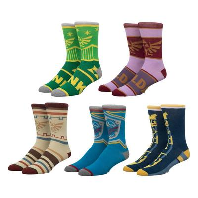 The Legend of Zelda Crew Socks 5 Pack