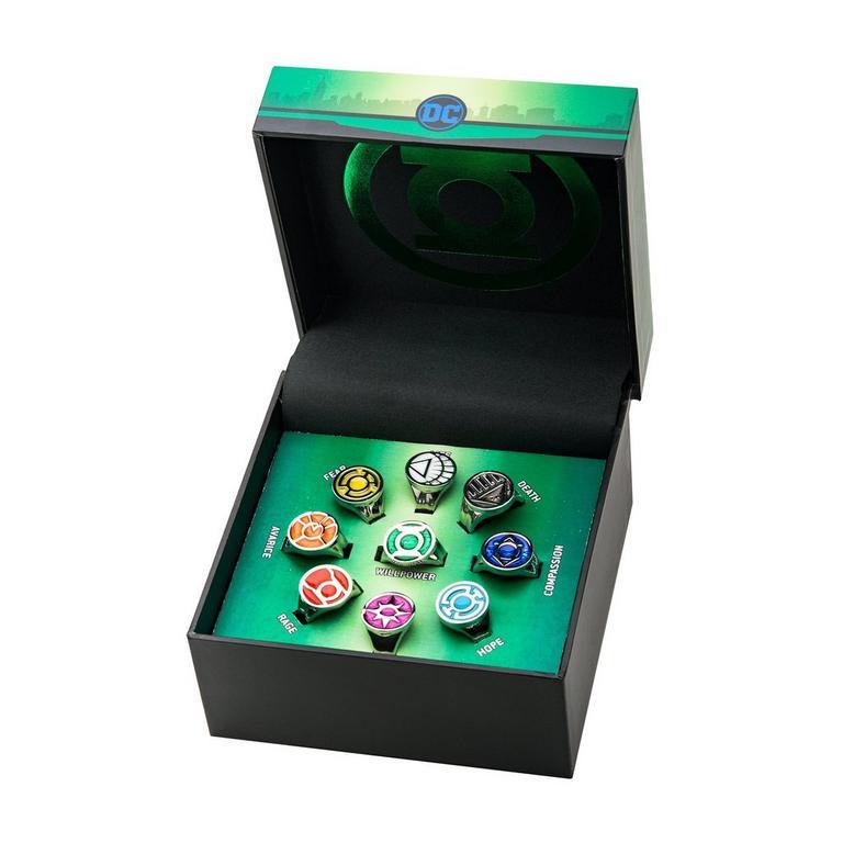 Green Lantern Lantern Corps Ring Set