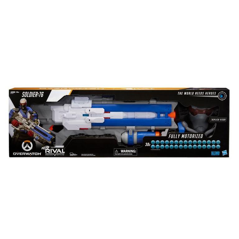 Overwatch Soldier: 76 Nerf Rival Blaster and Targeting Visor | GameStop