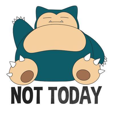 Pokemon Snorlax Not Today T-Shirt