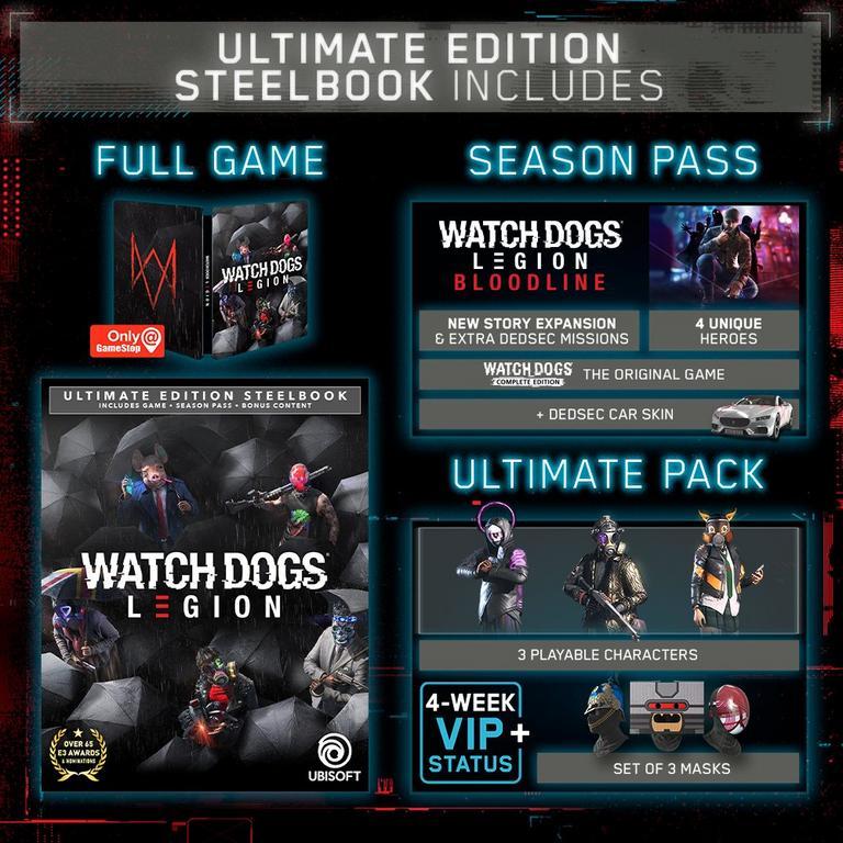 Watch Dogs: Legion Ultimate Steelbook Edition