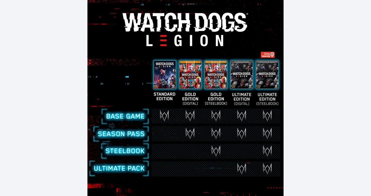 Watch Dogs: Legion Gold Steelbook Edition