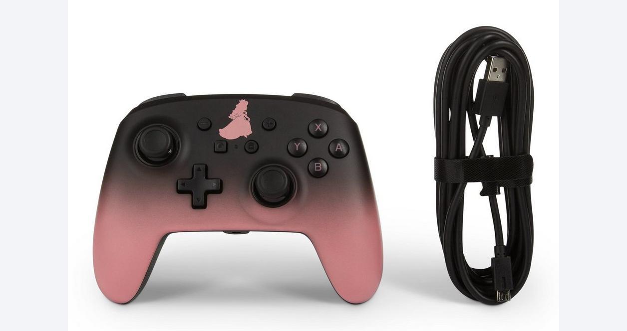 Super Mario Bros. Princess Peach Enhanced Wired Controller for Nintendo Switch