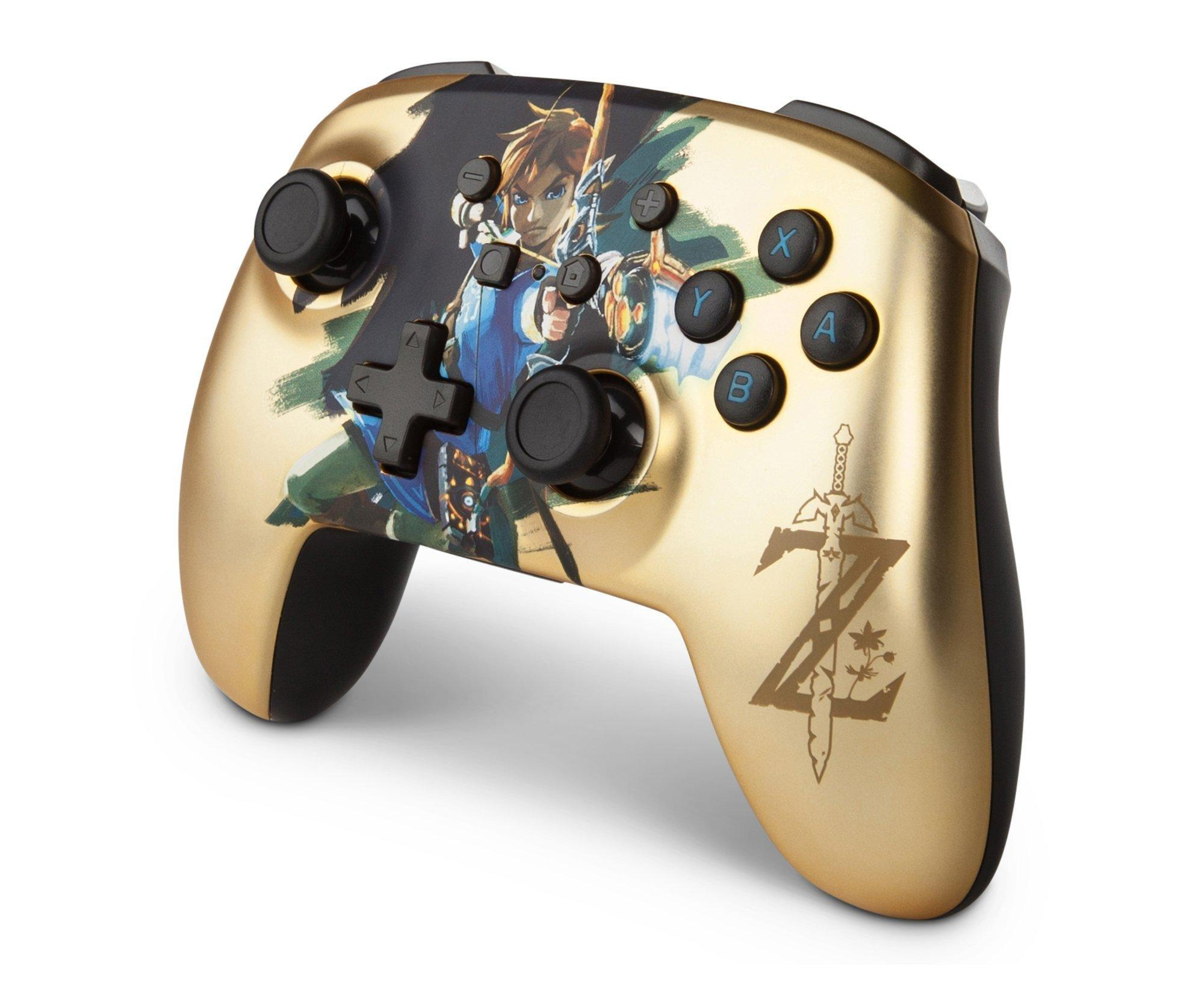 The Legend Of Zelda Link Enhanced Wireless Controller For Nintendo Switch Only At Gamestop Nintendo Switch Gamestop