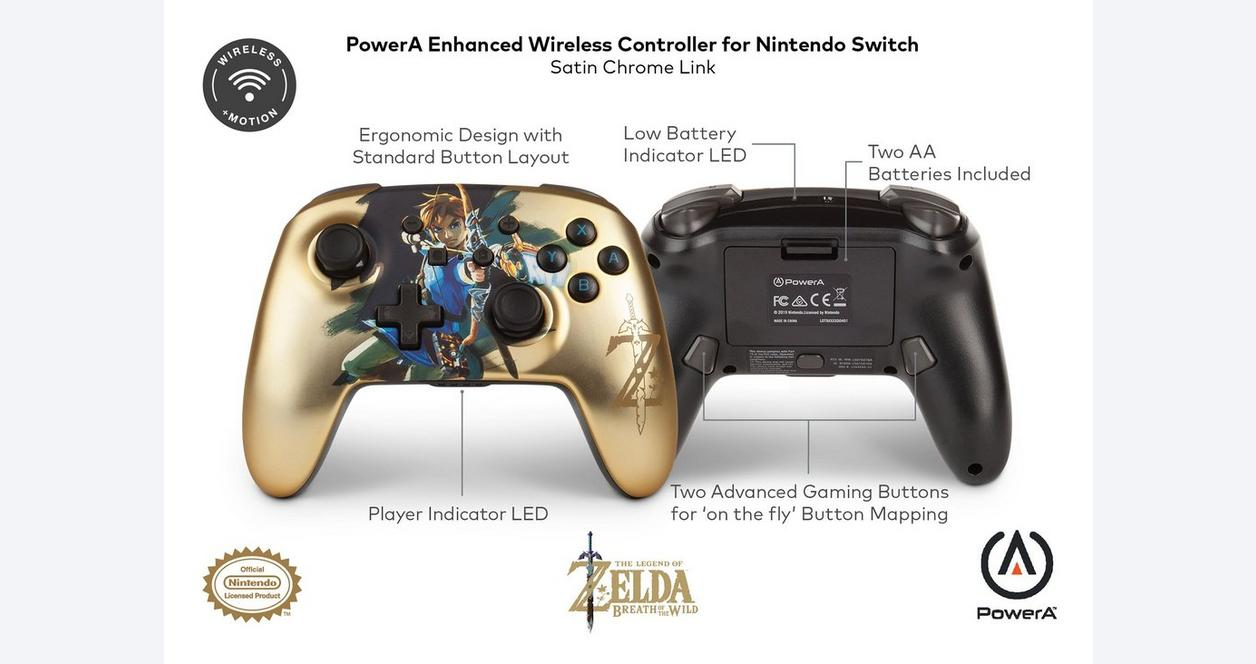 The Legend of Zelda Link Enhanced Wireless Controller for Nintendo Switch Only at GameStop