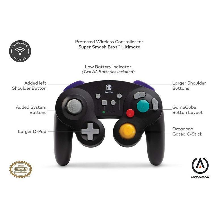 Nintendo Switch Wireless Black GameCube Controller