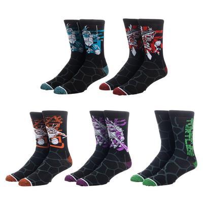 Teenage Mutant Ninja Turtles Artist Series Socks 5 Pair