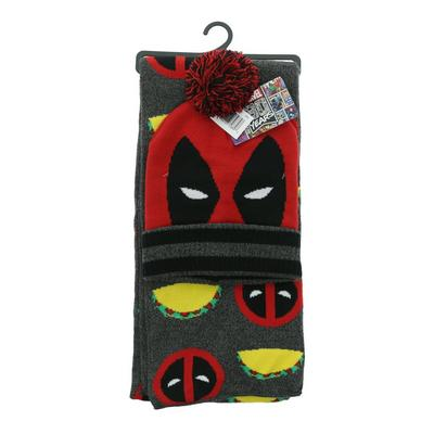 Deadpool Taco Beanie and Scarf Set