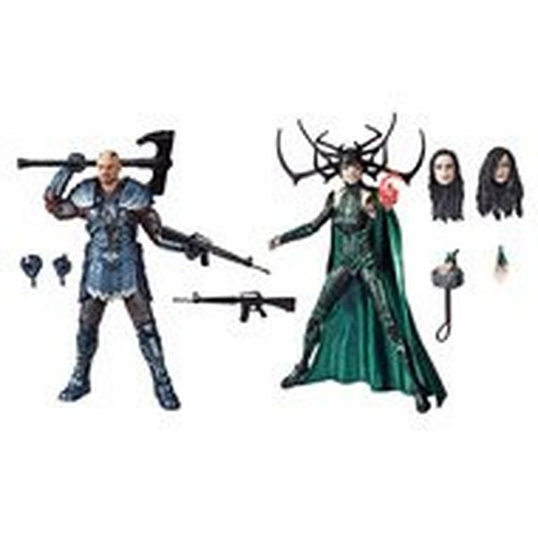 Marvel Legends Series 80th Anniversary Thor: Ragnarok Skurge and Hela Action Figure 2 Pack