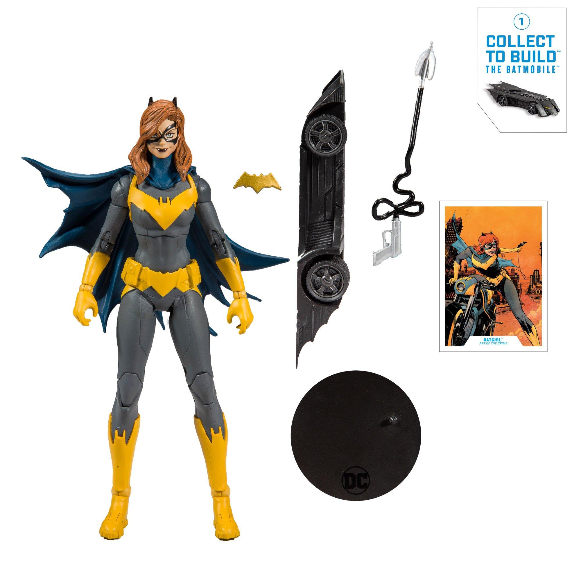 "McFarlane DC BATGIRL 7/"" Loose Complete With Batmobile Part No Packaging IN HAND!"