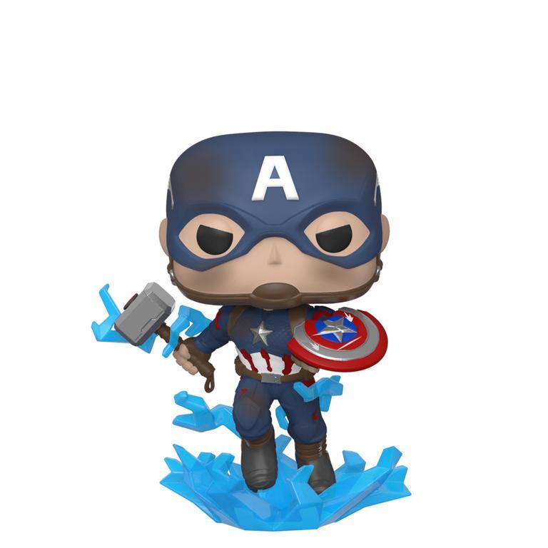 POP! Marvel Avengers: Endgame Captain America with Broken Shield and Mjolnir