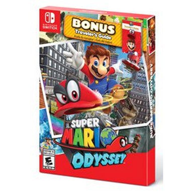 Super Mario Odyssey With Traveler S Guide Nintendo Switch Gamestop