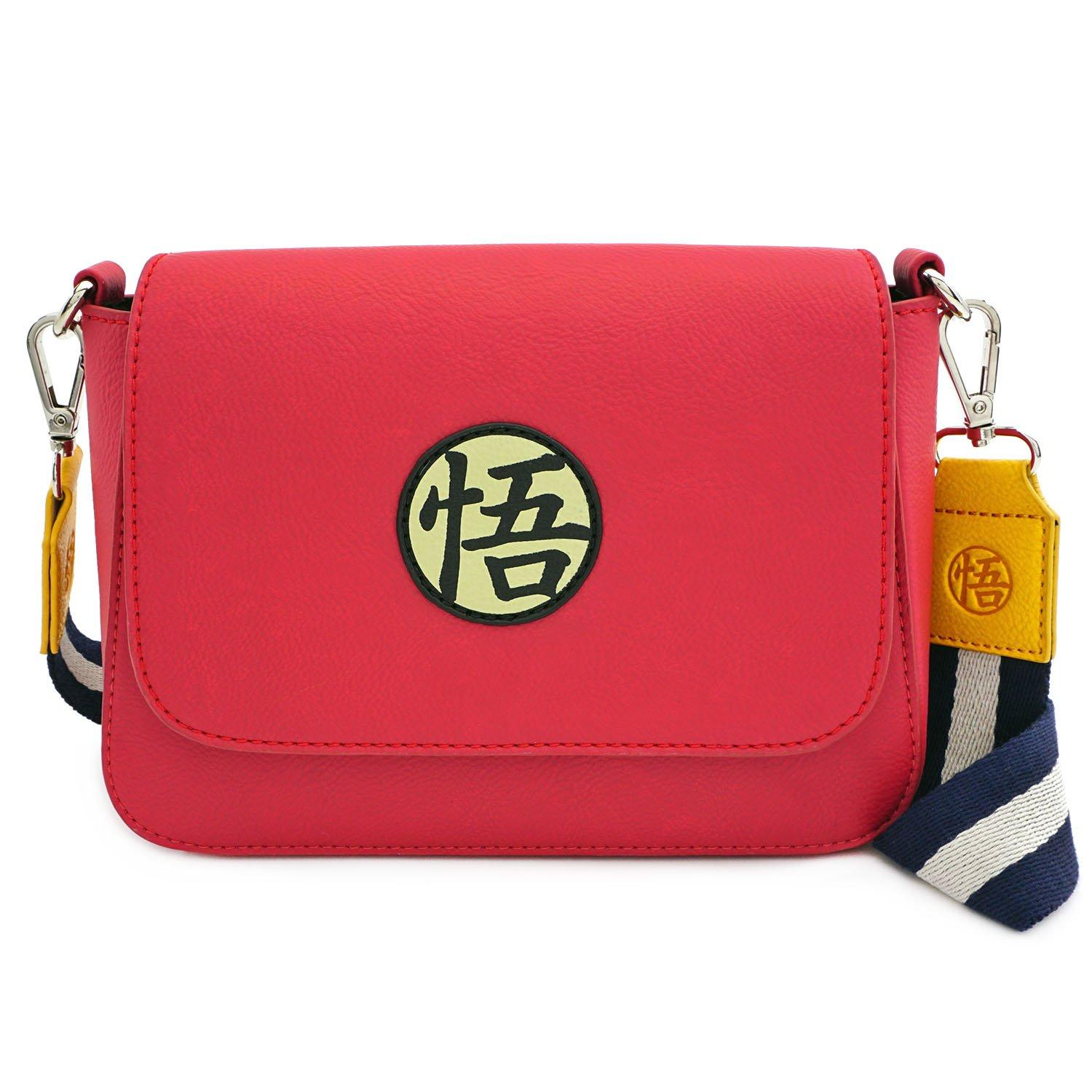 Loungefly Dragon Ball Z Goku Crossbody Logo Passport Shoulder Bag