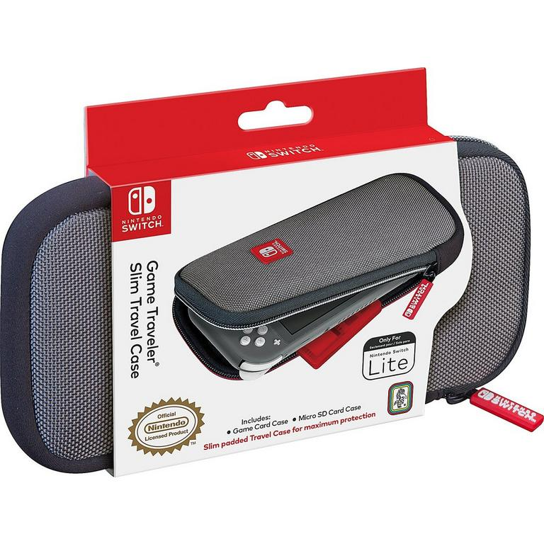 Gray Game Traveler Slim Travel Case for Nintendo Switch Lite
