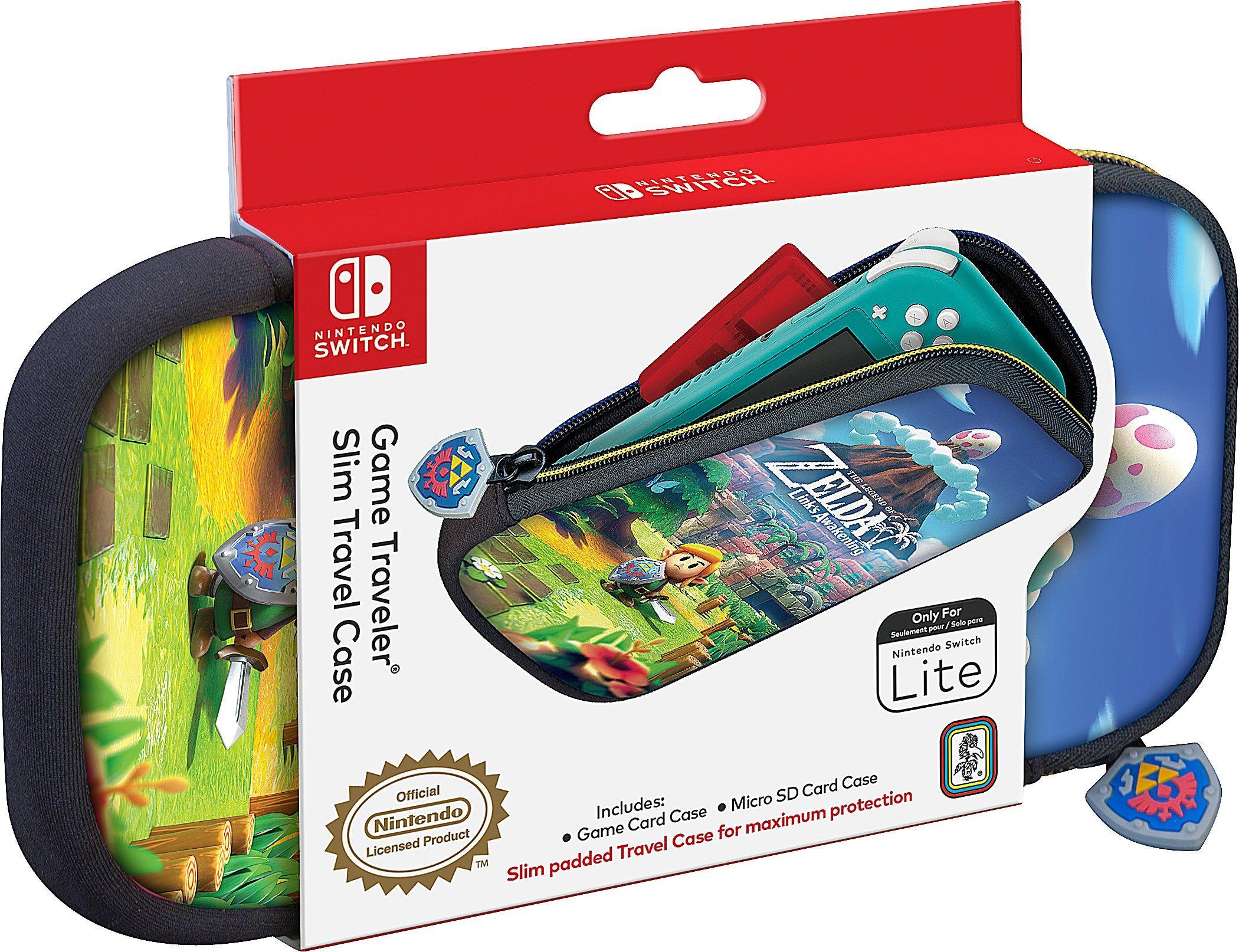 The Legend Of Zelda Link S Awakening Game Traveler Slim Travel Case For Nintendo Switch Lite Nintendo Switch Gamestop