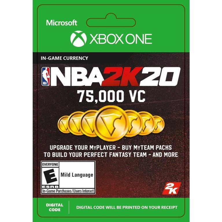 NBA 2K20 75000 Virtual Currency