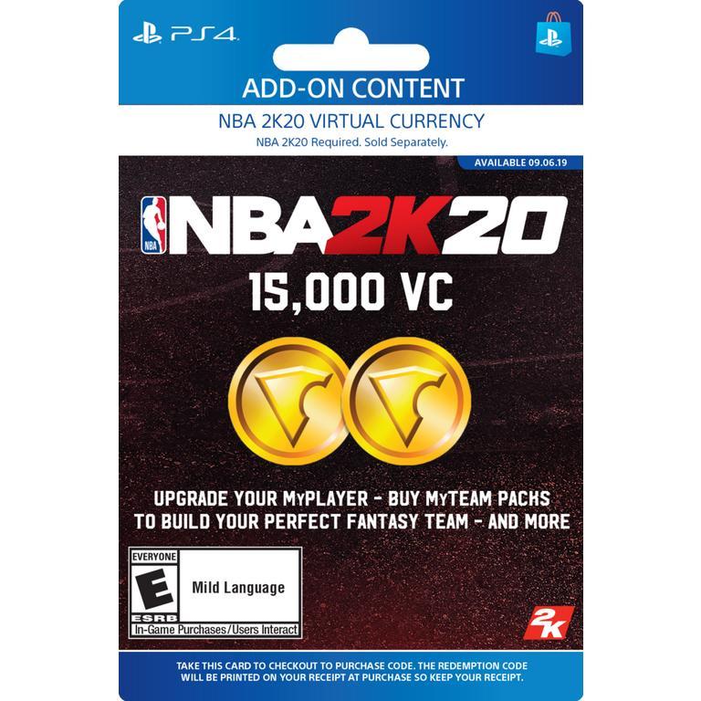 NBA 2K20 15,000 Virtual Currency