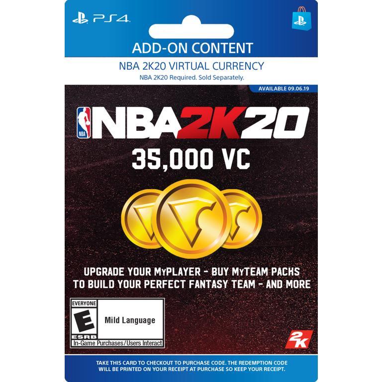 NBA 2K20 35,000 Virtual Currency