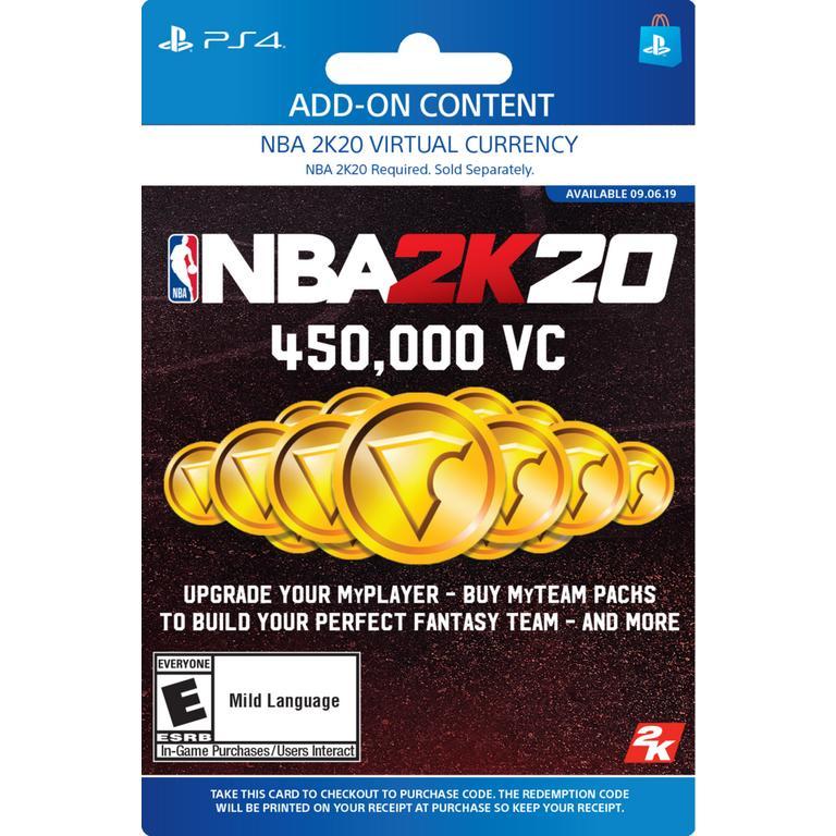 NBA 2K20 450,000 Virtual Currency